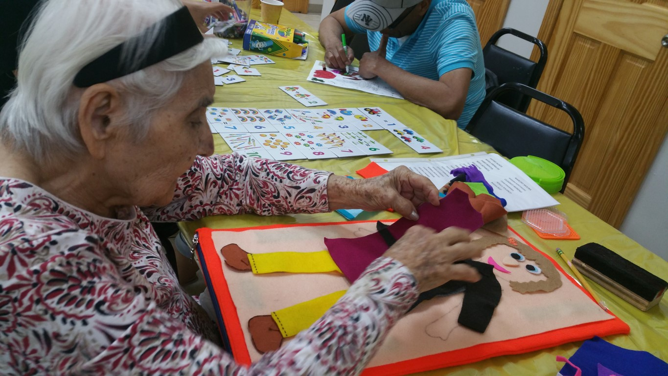 Adult day care activities